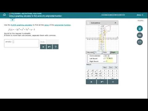 Using a graphing calculator to find zeros of a polynomial function