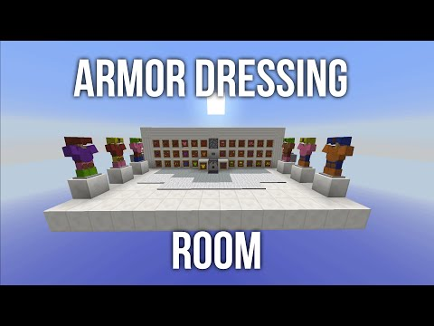 Minecraft Invention - Armor Dressing Room - 4,096 Sets of Armor