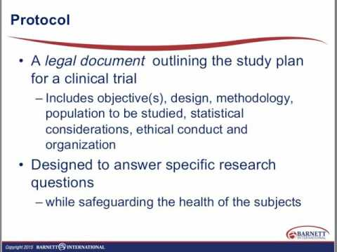 Writing Clinical Study Protocols Trailer