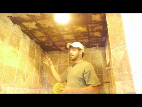 How to grout tile on the ceiling: DIY by TileConceptsofAustin.net