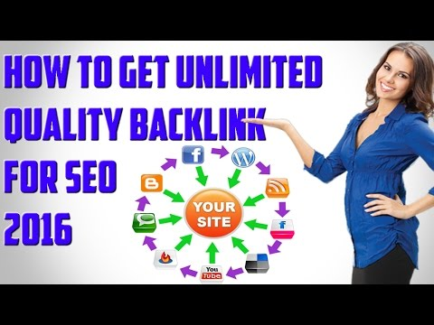 How to get unlimited quality backlinks incuding(.GOV/.EDU) For seo 2016