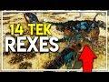 Download Video Download 14 TEK REX ARMY vs DROP POD! (Ark Extinction DLC Gameplay Ep 21) 3GP MP4 FLV