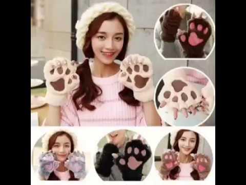 Cute Cat Paw Finger Gloves