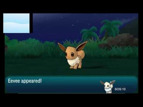 Pokémon Sun Shiny Eevee Test