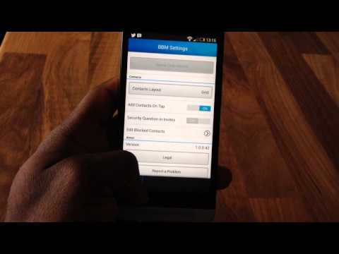 BBM for all on Android HTC One