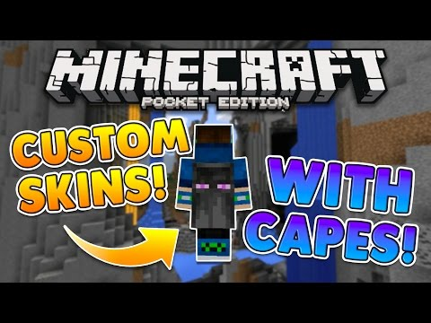 MCPE CAPES FOR ANY SKIN TUTORIAL! 0.16.0 NO MODS Minecraft PE