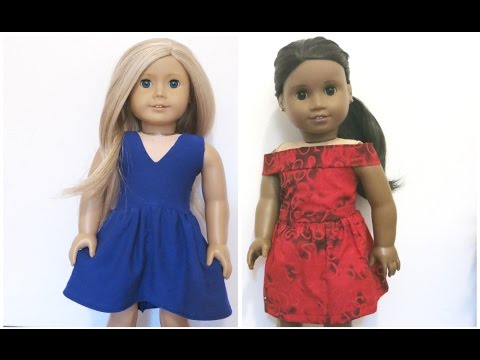 Sewing American Girl doll Dresses (easy)!