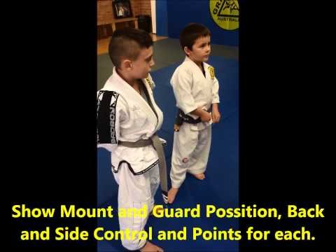 Kids BJJ Grey and Black belt test