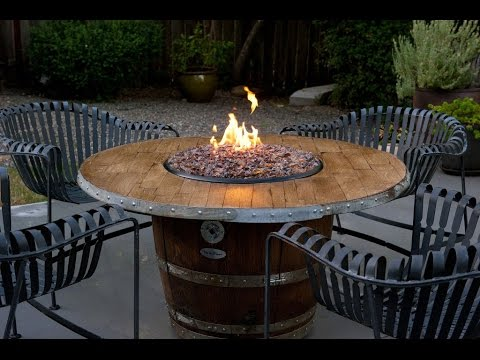 Fire Pit Ining Table Reclaimed Wood