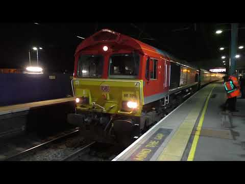 (HD) DB Cargo 66115 & 66020 at St Albans with UK Railtours 'Immingham Revisited' tour - 4/11/17