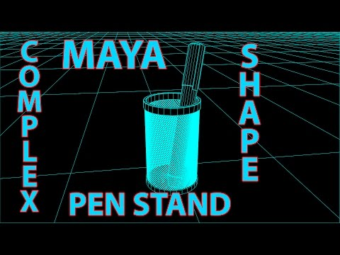 How to Model Creative Pen Stand in Maya