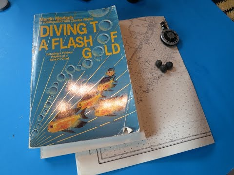 Real S. Florida treasure map - Diving To a Flash of Gold book review