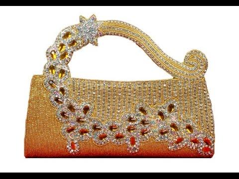 Ladies Handbags Letest Stylish Stone Designer Work On Fashion Videos