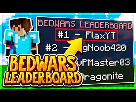 GETTING ONTO THE BEDWARS LEADERBOARDS (Minecraft BEDWARS)