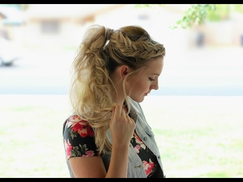 How to: Fishtail Braided Ponytail using Extensions