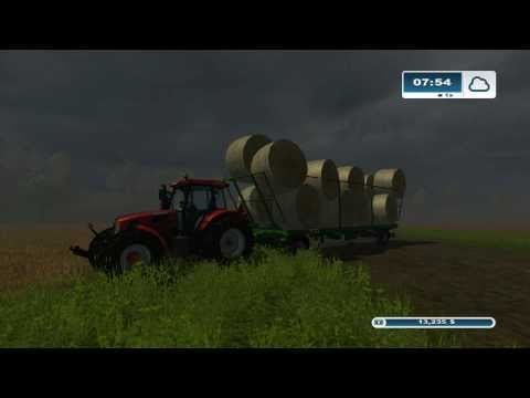 Farming Simulator 2013 xbox 360 How Not To Stack A Bale Trailer  Fail