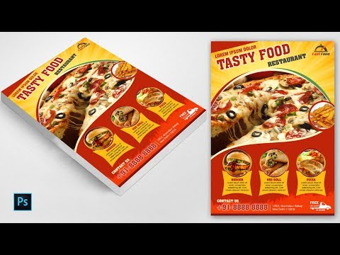 Food Flyer Tutorial | Pizza Poster Design In Photoshop CS6  | Creative flyer latest