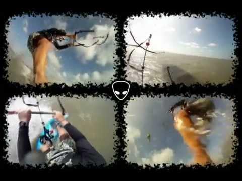 Kitesurf in Salinas - Brazil using a crossover kite foil  HQ Neo - 11 mts