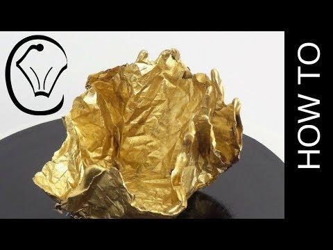 Gold Metallic Crinkle Chocolate Sail Cake Topper by Cupcake Savvy's Kitchen