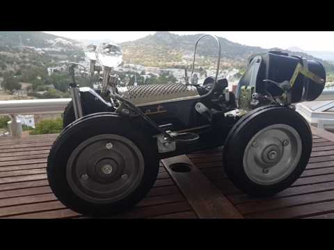 Steampunk style  Fiat sewing machine car. Design by A.TARIK DEMIRBAS