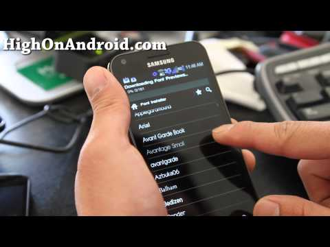 How to Change Fonts on Rooted Android! [Font Installer App][App of the Week]