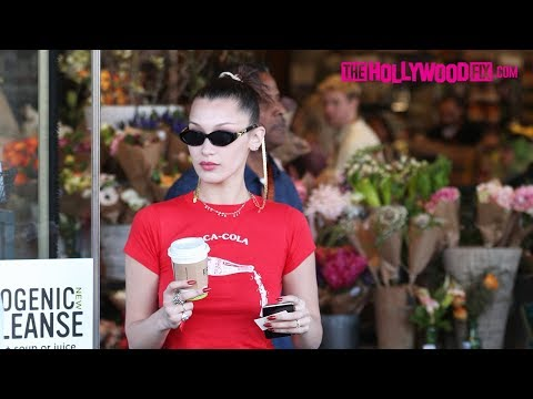 Bella Hadid Stops By The Grocery Store To Grab Coffee With A Friend At Erewhon Market 4.18.18