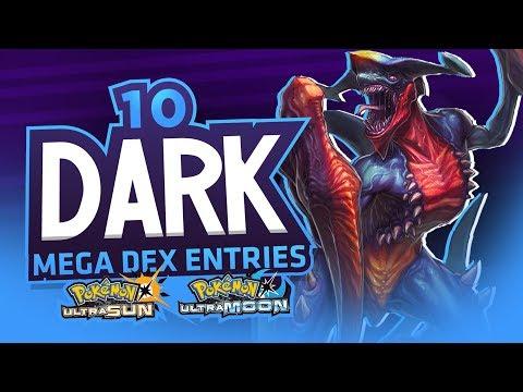10 DARK MEGA PokeDex Entries In Pokemon Ultra Sun and Ultra Moon!