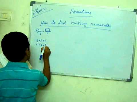 MatheMatics - How to find missing Numerators in 4th class maths