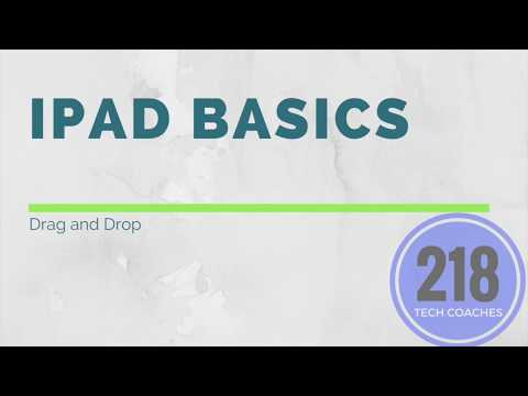 iPad Basics: Drag and Drop
