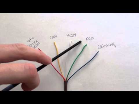 Thermostat wiring color code decoded