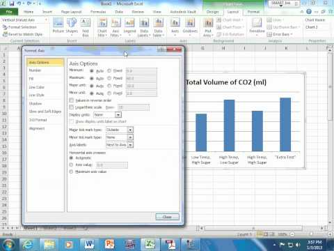Making a bar chart in Excel