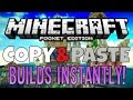 COPY & PASTE BUILDS INSTANTLY on MCPE  - Creation Share for Minecraft PE (Pocket Edition)