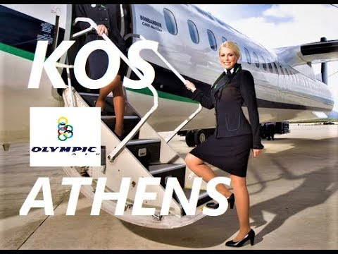 ✔ Olympic Air  Dash 8 Q400 ✈ Flight Kos  - Athens ✈ Engine View | Take Off & Landing