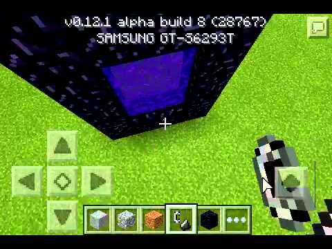 Como fazer portal do nether mcpe 12.1 build 8