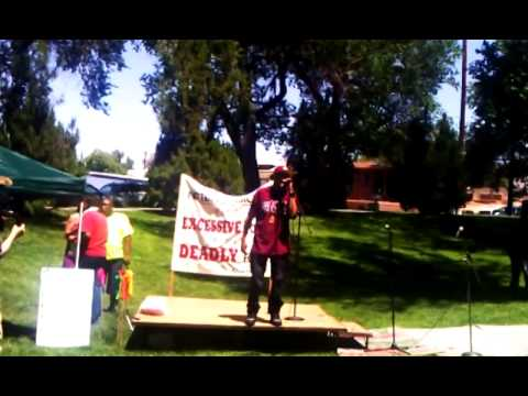 Native MC Def-i speaks out to end APD police brutality! (6/21/2014)