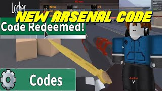 promo codes for arsenal roblox