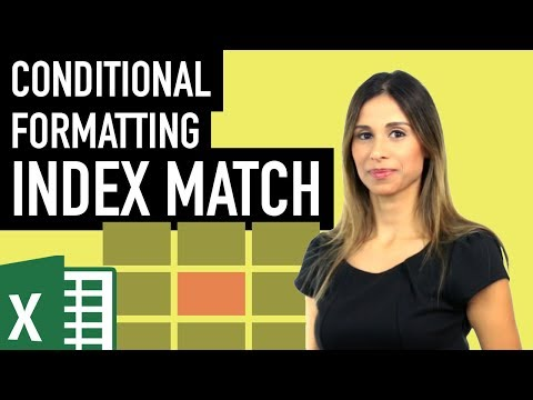 Excel Conditional Formatting the Index Match result in data table