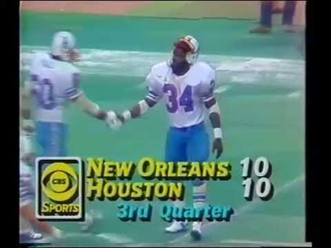 New Orleans Saints vs Houston Oilers 1981 2nd Half WK 12