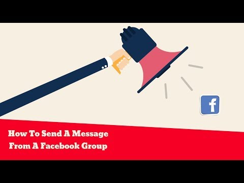 How To Send A Message From A Facebook Group