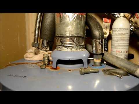 How to repair leaking / stuck water heater nipple (Part 1)