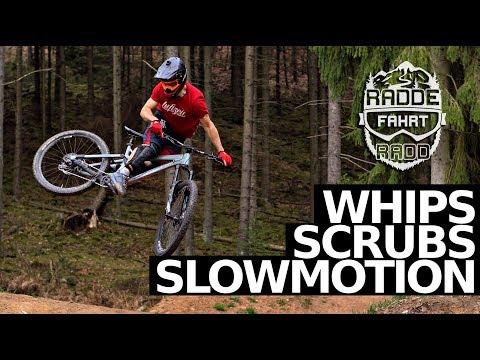 WHIPS & SCRUBS IN SLOWMOTION - 120fps - Bikepark Trippstadt
