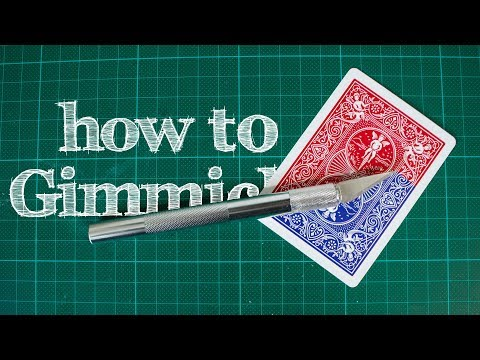 How To Make GIMMICKED CARDS - Handmade, Professional GIMMICKS