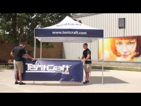 TentCraft - Pop Up Tent Accessories - Half-Wall Installation