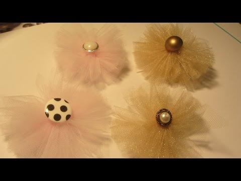 Shabby Chic Tulle Flower Embellishment  Craft Tutorial