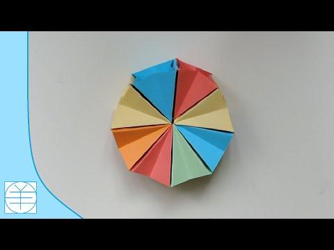 Origami Magic Circle Easy. (Instructions) (Full HD)