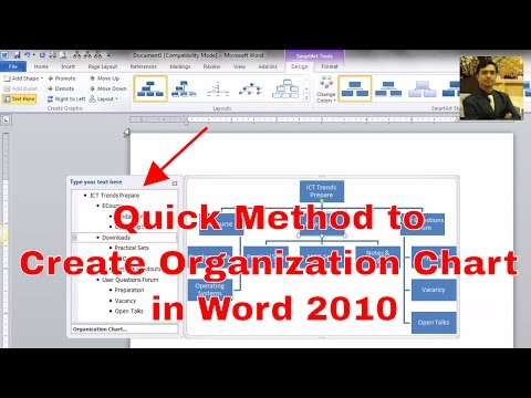How to make an organizational chart || Creating Organization Chart in Word 2016