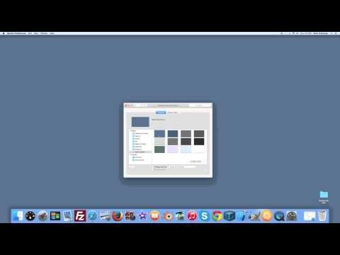 How to change your desktop background on an Apple iMac