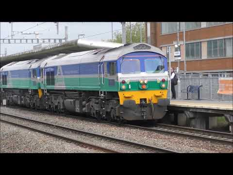 Freight trains at Swindon & Bath spa 16th May 2018