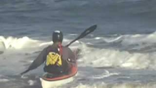 How to launch a sea kayak through the surf zone