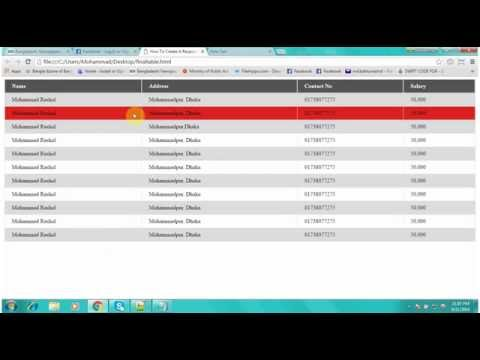 HTML CSS & JavaScript Tutorial For Beginners Part 21 : Create A Responsive Table